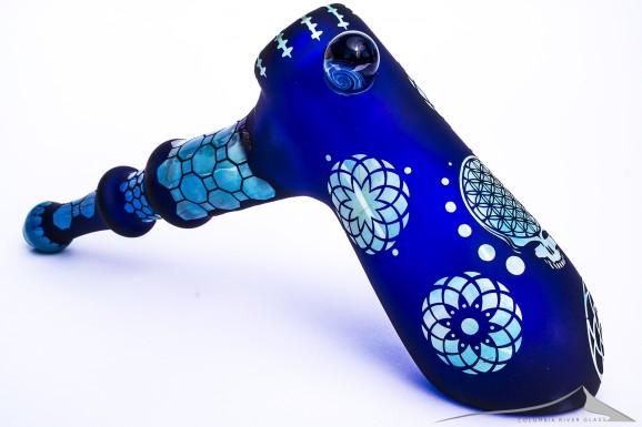 Cobalt Marble Bubbler